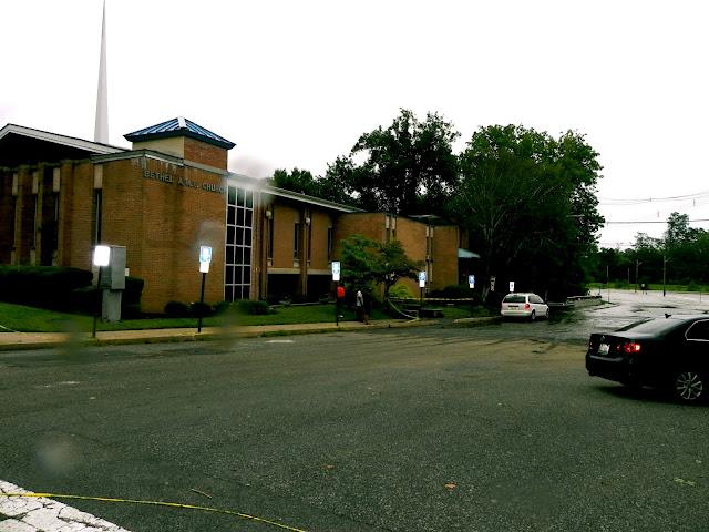 Rain lashes the building in 2011