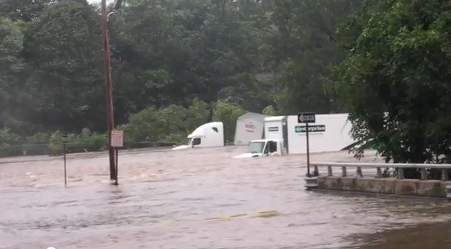 Photo of waters rising from hurricane Irene